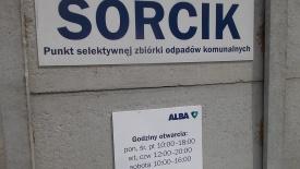 SORCIK – PSZOK otwarty od poniedziałku do soboty